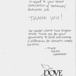 Thank you from DOVE
