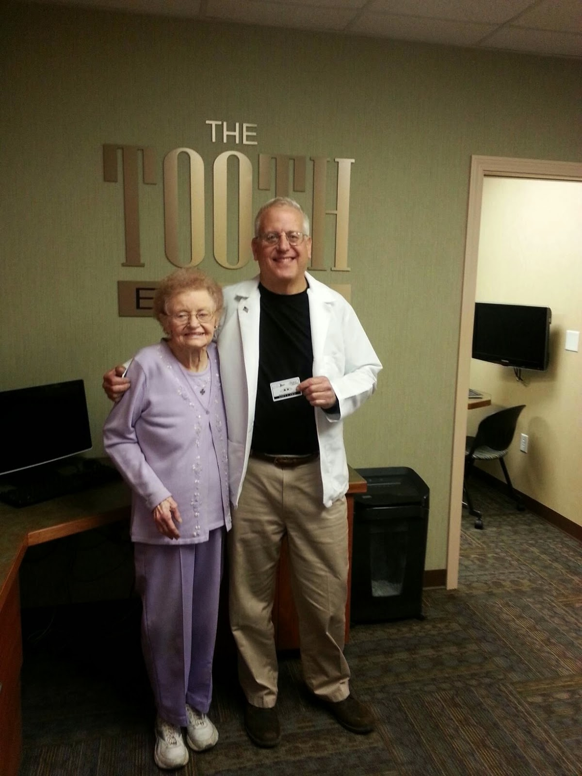 10 decades of smiles. The Toothboss honors Ruth Anderson.
